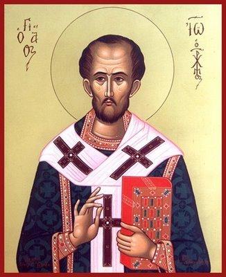 San Juan Crisóstomo (hacia 345-407), presbítero en Antioquia, después obispo de Constantinopla, doctor de la Iglesia