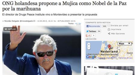 mujica nobel de la paz marihuana