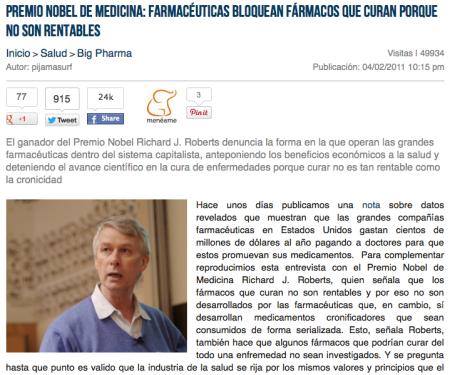 premio nobel de medicina laboratorios